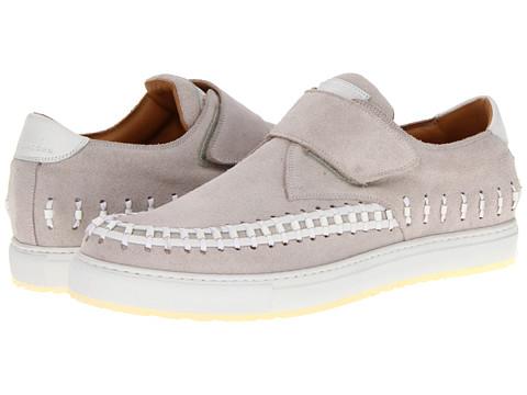 Adidasi Marc Jacobs - Top Stitch Hook & Loop Sneaker - Light Grey