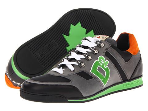 Adidasi DSQUARED2 - Winner Sneaker - Anthracite/Kiwi