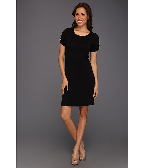 Rochii Calvin Klein - T-Shirt Dress w/ Tabs - Black