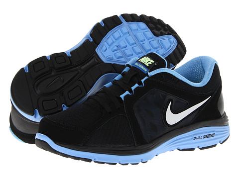 Adidasi Nike - Dual Fusion Run - Black/University Blue/SIgnal Blue/Metallic Platinum