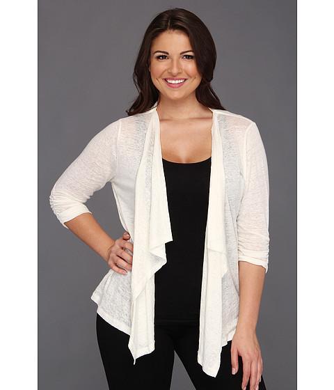 Jachete Karen Kane - Plus Size Shirred Sleeve Drape Jacket - Cream