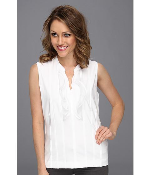 Bluze NIC+ZOE - Caliente Softly Ruffled Top - Paper White