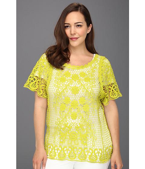 Bluze Karen Kane - Plus Size Crochet Sweater - Kiwi