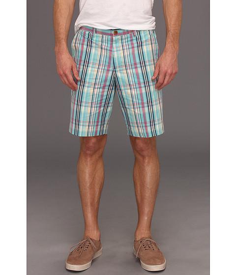 Pantaloni Ben Sherman - Madras Check Tailored Short - Aqua