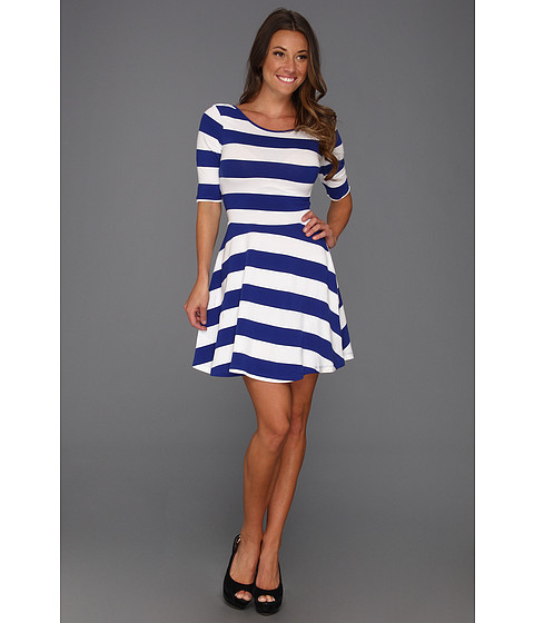 Rochii French Connection - Fun Stripe Jersey - Royal Blue