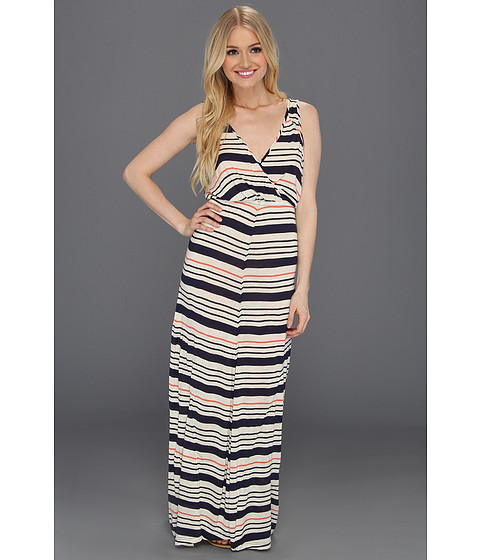 Rochii Quiksilver - Inlet Stripe Maxi Dress - Indigo Blue