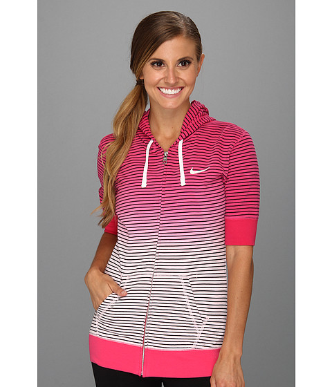 Bluze Nike - Dipped Stripe Hoody - Pink Force/Sail