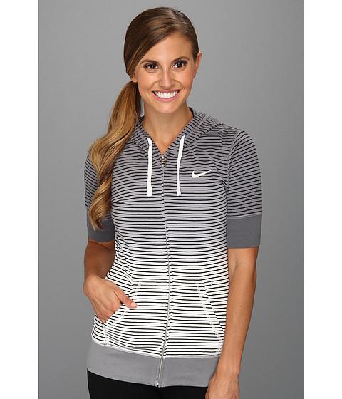 Bluze Nike - Dipped Stripe Hoody - Cool Grey/Sail