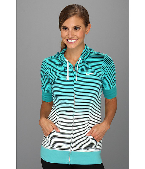 Bluze Nike - Dipped Stripe Hoody - Sport Turquoise/Sail