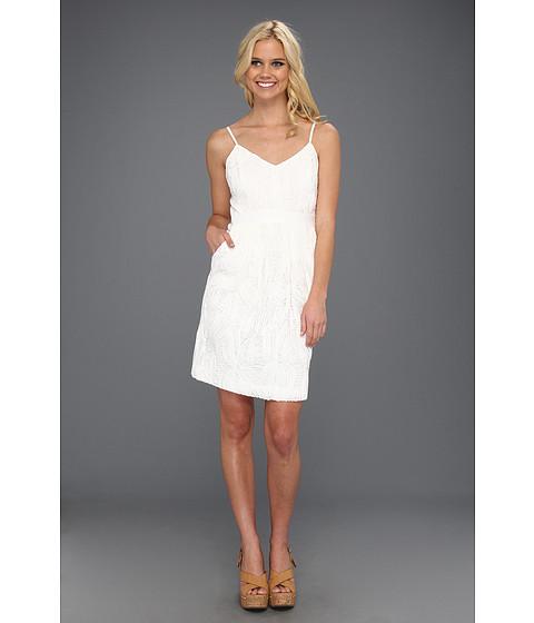 Rochii Vince Camuto - Spaghetti Strap Dress w/ Contrast Side Panels - White