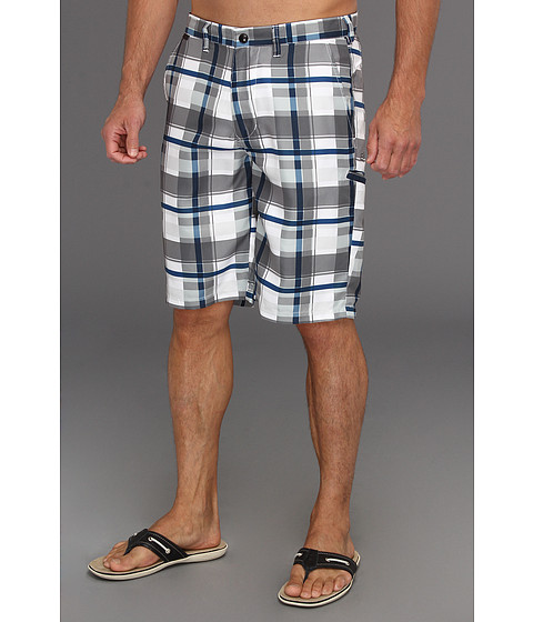 Pantaloni Fox - Hydroessex Plaid Hybrid Short - White
