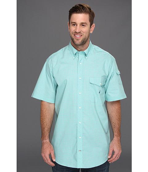 Tricouri Nautica - Big & Tall Wrinkle Resistant S/S Plaid Shirt - Flipper Jade
