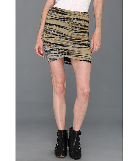 Fuste Free People - Essential Scrunch Skirt - Military Combo