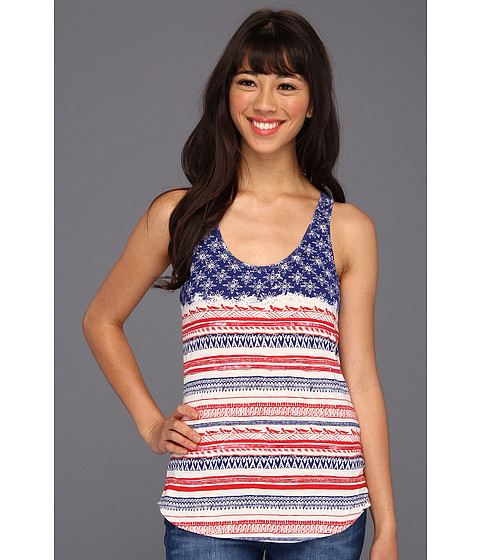 Bluze Lucky Brand - Tribal Flag Racerback Tank - Red/White/Blue