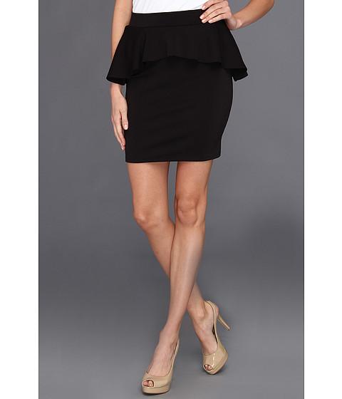 Fuste Type Z - Viki Scuba Peplum Skirt - Black