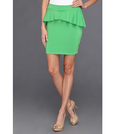 Fuste Type Z - Viki Scuba Peplum Skirt - Green