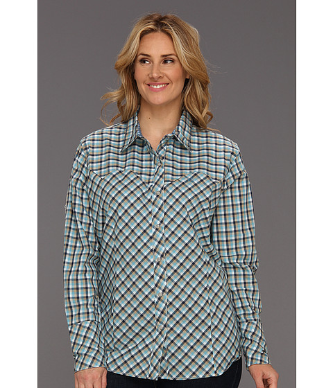 Camasi Roper - Plus Size 8563 Mini Buffalo Check - Blue