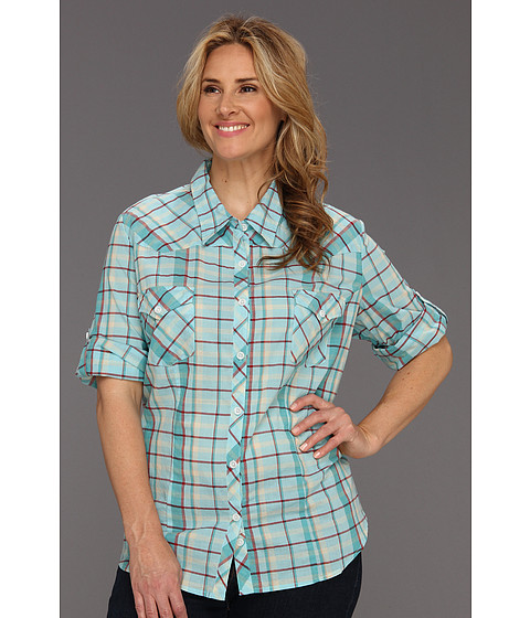 Camasi Roper - Plus Size 8626 Plaid Shirt - Blue