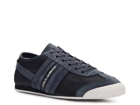Adidasi D&G - Suede & Nylon Sneaker - Navy