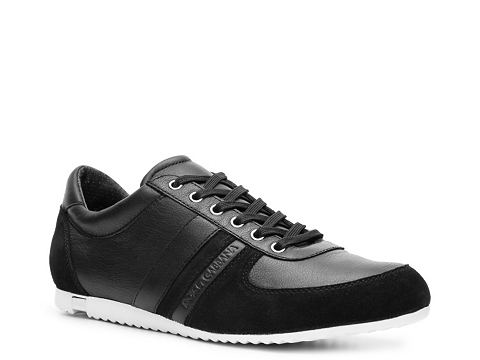 Adidasi D&G - Leather & Suede Sneaker - Black