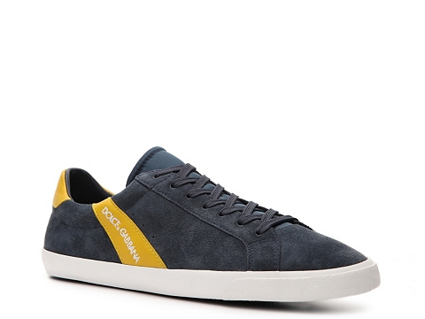 Adidasi D&G - Suede & Leather Sneaker - Grey/Yellow