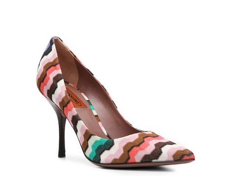 Pantofi Missoni - Printed Fabric Pump - Pink Multi