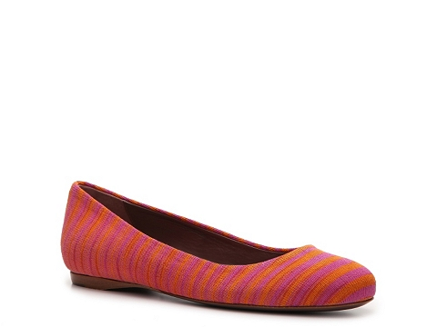 Balerini Missoni - Printed Fabric Stripe Flat - Orange Multi