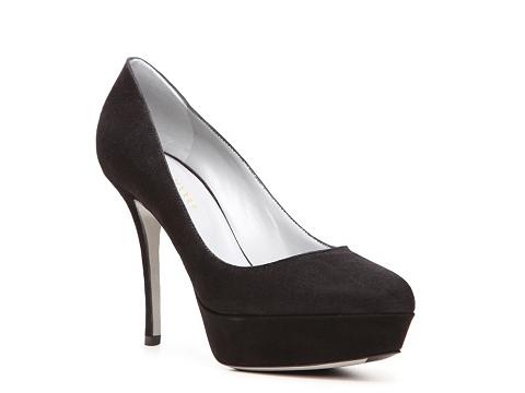 Pantofi Sergio Rossi - Suede Platform Pump - Black