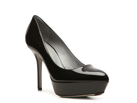 Pantofi Sergio Rossi - Patent Leather Platform Pump - Black