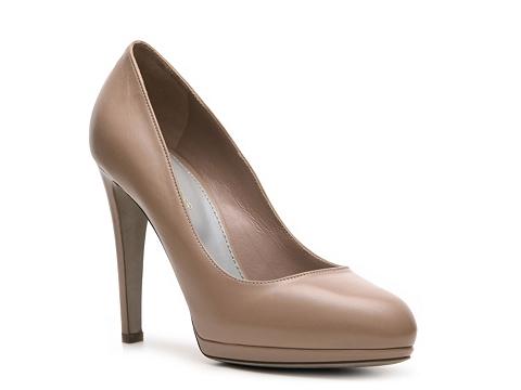 Pantofi Sergio Rossi - Leather Platform Pump - Nude