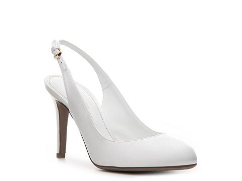 Pantofi Sergio Rossi - Satin Slingback Pump - White