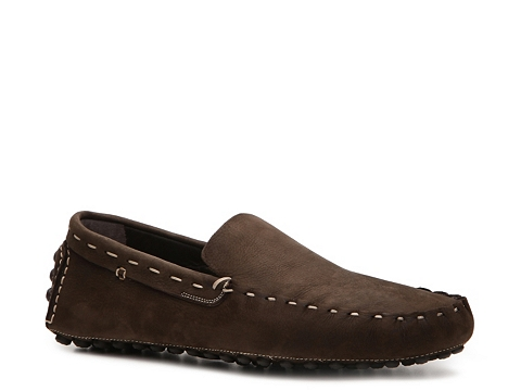 Pantofi Sergio Rossi - Textured Leather Loafer - Chocolate Brown