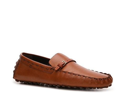 Pantofi Sergio Rossi - Leather Buckle Loafer - Rust