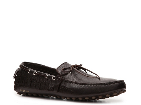 Pantofi Sergio Rossi - Leather Fringe Loafer - Espresso