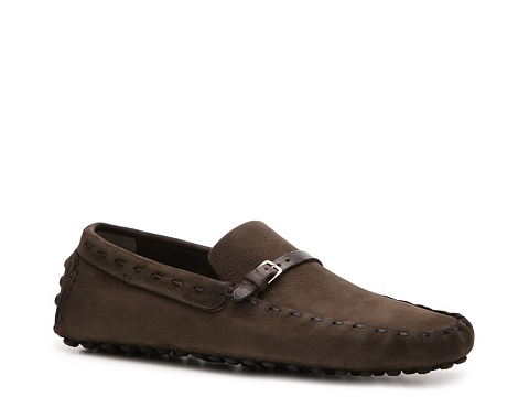 Pantofi Sergio Rossi - Suede Buckle Loafer - Chocolate Brown