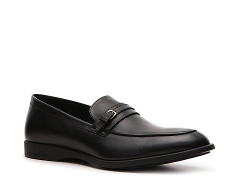Pantofi Sergio Rossi - Leather Buckle Slip-On - Black