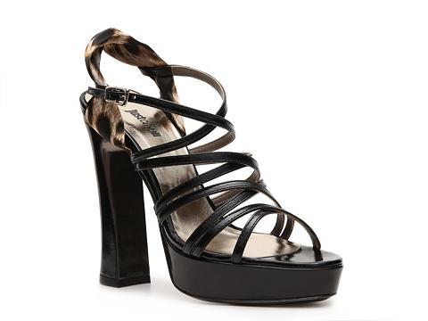 Sandale Just Cavalli - Patent Leather Slingback Sandal - Black