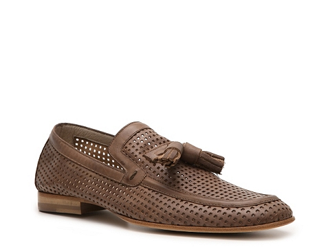 Pantofi Just Cavalli - Perforated Leather Tassel Loafer - Brown