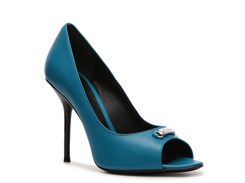 Pantofi Gucci - Leather Nameplate Pump - Turquoise