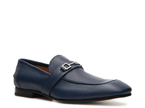 Pantofi Gucci - Pebbled Leather Horsebit Loafer - Blue