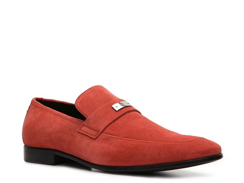 Pantofi Gucci - Suede Nameplate Loafer - Coral