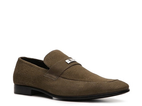 Pantofi Gucci - Suede Nameplate Loafer - Olive