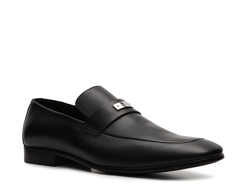 Pantofi Gucci - Leather Nameplate Loafer - Black