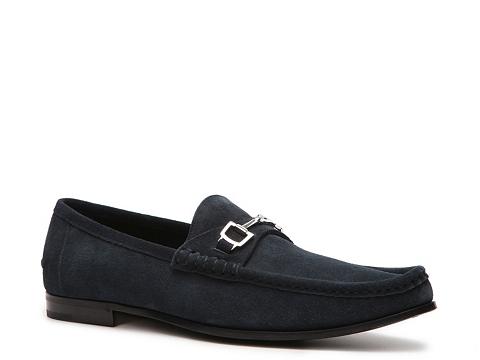 Pantofi Gucci - Nubuck Horsebit Loafer - Navy