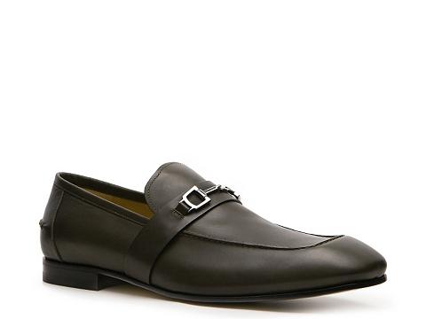 Pantofi Gucci - Leather Horsebit Loafer - Military Green