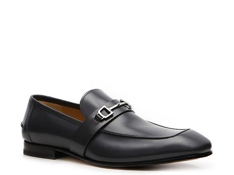 Pantofi Gucci - Leather Horsebit Loafer - Slate Blue