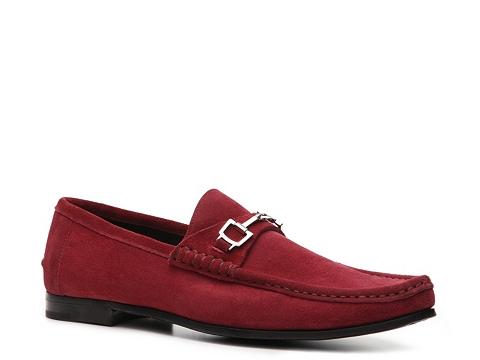 Pantofi Gucci - Suede Horsebit Loafer - Berry