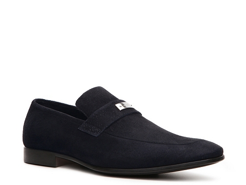 Pantofi Gucci - Suede Nameplate Loafer - Navy