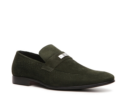 Pantofi Gucci - Suede Nameplate Loafer - Forest Green