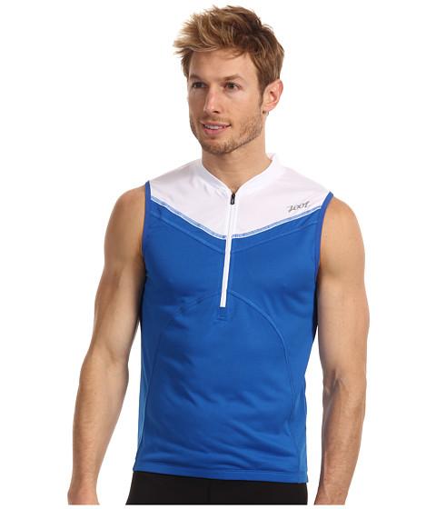 Tricouri Zoot Sports - Performance Tri S/L Jersey - Zoot Blue/White